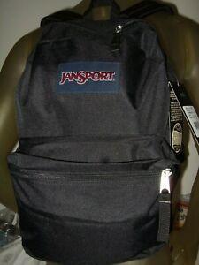 New Solid Black Authentic Jansport Superbreak One Backpack School Book Bag