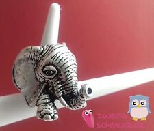 Elephant Ring Solid Statement Style - Silver