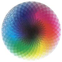 Round Jigsaw Puzzles Rainbow Palette Gradation Intellectual Toy BL