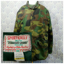 Vintage Sport Chief Camouflage Hunting Coat Jacket Mens L 43-44 Insulated