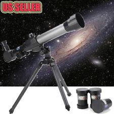 US Adjustable Pro 60mm Kids Astronomical Refractor Telescope Tripod 3x Eyepiece
