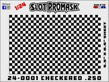1/24 Slot Car Paint Mask airbrush stencils Body 24-0001 CHECKERED .250