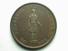 Canada 1837 Montreal Habitant Half Penny Breton #522 Token