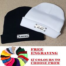 Custom Beanie Hat winter woolly Dads Sons Gift cap hat engraved personalized boy
