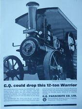 10/1965 PUB RFD GQ PARACHUTE 12-TON WARRIOR BURRELL ENGINE ORIGINAL AD