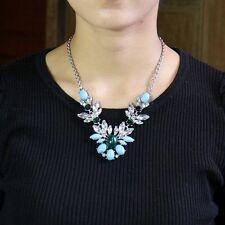 Collar Turquesa Azul Verde Cristal Viejo Vintage Estilo Original Matrimonio QT 6