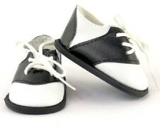"Black and White Saddle Oxfords Shoes for 18"" American Girl Doll Clothes Lovvbugg"