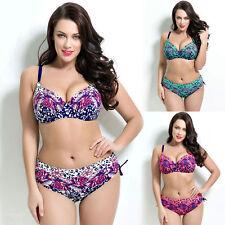 Polyester Floral Regular Size Bikini Sets for Women