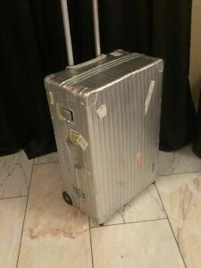 Rimowa Aluminium Trolley Koffer auf 2 Rollen Topas Hartschale Vintage silber