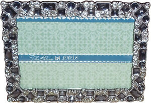 "Sheffield Home The Blues ~6"" x 4"" or 4"" x 6""- Frame -Blue/Teal Faux Jewels"