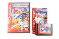 Sonic Spinball Complete Sega Genesis Original Game CIB The Hedgehog