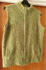 Womens size L 18-20 Honor Millburn Green sleeveless cardigan zip through gilet