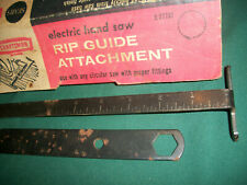 Vintage Sears Craftsman Electric Hand Saw (Circular Saw) RIP Guide Attachment