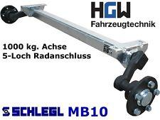 1000 kg. Achse für Anhänger - AM: 1300 mm  AS: 5*112 - Schlegl MB10 Laufachse