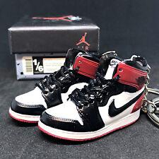 d075a9615ac05e Pair Air Jordan I 1 Retro Black Toe Chicago Sneaker Shoes 3D Keychain  Figure+Box
