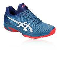 Asics Mens Solution Speed FF Clay Tennis Shoes Blue Sports Breathable