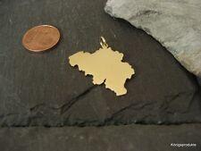 BELGIEN Landkarte Anhänger in 333er Gelbgold - Koninkrijk België - Belgique, NEU