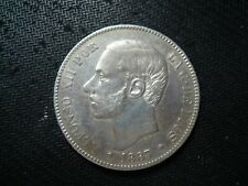 SPAIN 5 PESETAS 1883 (18-83) MSM COIN.