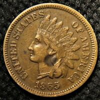 1865 Indian Head Cent with bold LIBERTY and some diamond detail!