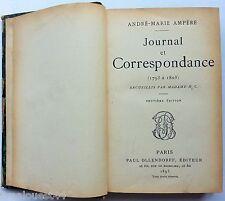 Journal et correspondance (1793-1805) Ampère Ollendorff 1893