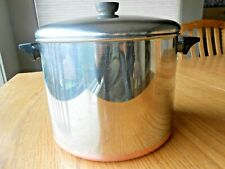 Revere Ware 10 Quart Stock Pot Pan & Lid Stainless Steel Copper Clad
