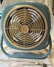 Vintage Blue Enameled Metal Unbranded Small Electric Fan in Working Order
