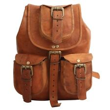 Rich Genuine Leather Back Pack Rucksack Travel Bag For Men's and Women's
