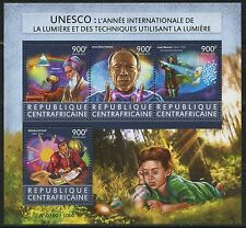 CENTRAL AFRICA  2015 UNESCO INT'L YEAR OF LIGHT SHEET MINT NEVER HINGED