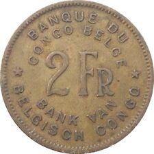 Belgian Congo Belge 2 Francs 1947 KM#28 Elephant (4556)