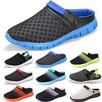 Mens Summer Clogs Sandals Beach Garden Water Slip On Soft Flip Flops Flat Shoes