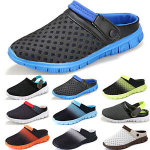 Mens Clogs Slip On Sandals Summer Beach Soft Flip Flops Casual Shoes Slipper US