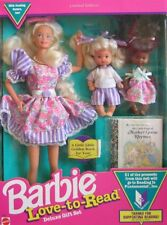 Barbie Love To Read Deluxe Gift Set w 3 Dolls & Mini Book - Limited Edition (199