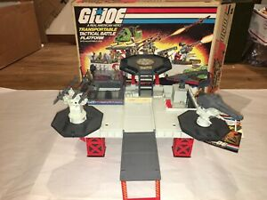 GI Joe Transportable Tactical Battle Platform 1985 w/ Box Complete