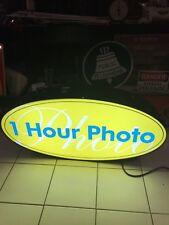 Rare Vintage One 1 Hour Photo Light Up Sign not kodak film fuji polaroid apple