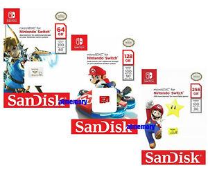 Nintendo Switch 64GB 128GB 256GB Micro SD Card SanDisk SDXC Memory Card