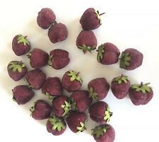 LOT OF 23 SUGAR FROSTED ARTIFICIAL FAKE Strawberries Deep Red