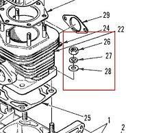 Vintage Polaris Cylinder Base Nut and Washer Set TX ATX Starfire Colt