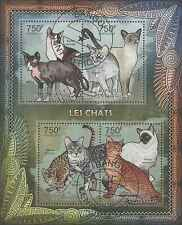 Timbres Chats Centrafrique 2344/7 o année 2012 lot 23682 - cote : 17 €