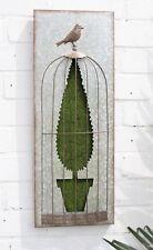 Nouveau en acier galvanisé jardin 3D wall art floqué gazon artificiel topiaire arbre
