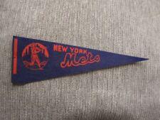 >orig. 1960's/70's New York Mets 15x5 Vintage BASEBALL PENNANT New York Skyline
