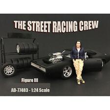 THE STREET RACING CREW FIGURE III FOR 1:24 SCALE MODELS AMERICAN DIORAMA 77483