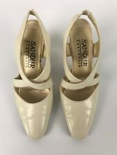 Sandler Beige Leather Evening shoes Size 7B Wedding Formal