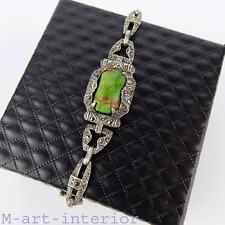 Art Deco Armband,Silber,Jaspis,Markasiten,Silver Bracelet,Stylish Fahrner 1930