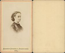 Eugénie impératrice Vintage CDV albumen carte de visite. d'après un des