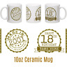 18th Birthday 2001 Celebration Ceramic Mug MADE IN 2001 - Gold Gift