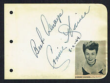"Connie Haines (d. 2008) signed autograph 4x5 Album Page Singer: ""The Four Girls"""