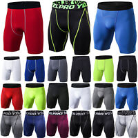 Mens Compression Base Layer Gym Sport Slim Fit Jogger Gym Fitness Shorts Pants