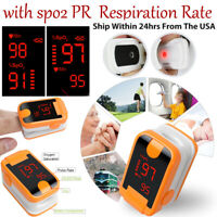 Fingertip Pulse Oximeter SPO2 PR Respiratory Rate Blood Oxygen Monitor FDA CE A+