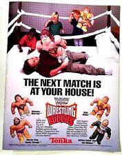 VTG WWF TOYS R US TONKA WRESTLING BUDDIES MAGAZINE POSTER PINUP PRINT AD WWE