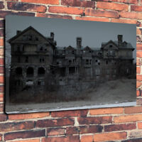 """Abandoned Creepy Mansion Printed Canvas Picture A1.30""""x20"""" 30mm Deep Haunted"""